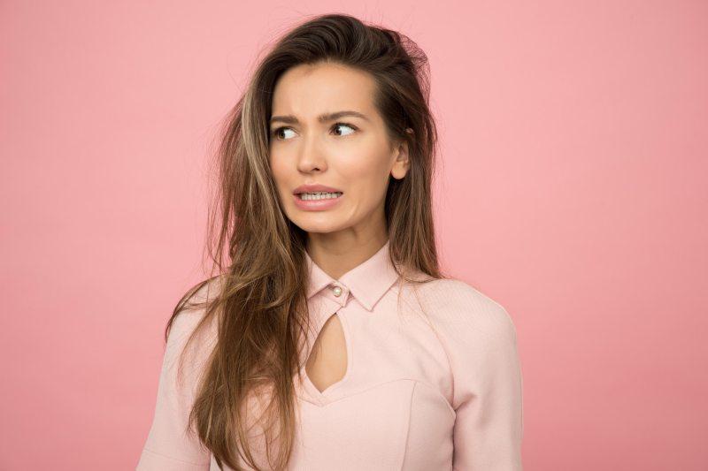 woman surprise face