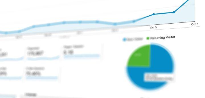 SEO and PPC analytics chart data